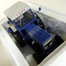 UH 1/16 SCALA 2799 FORD 7600 CON CABINA Blu Bianco Modello Diecast FARM TRACTOR