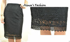 H&M NEW UK 8 LADIES HIGH WAISTED BLACK LACE SKIRT