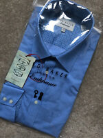 """TED BAKER ENDURANCE BLUE """"LOONA"""" PATTERNED DIAMOND L/S SHIRT TOP - 16"""" - NEW TAG"""