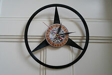 Vinyl record wall clock, Mercedes Benz logo design bedroom workshop office home