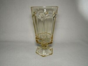 Virginia Yellow Fostoria Iced Tea Glass (s) Heavy Pressed Glass