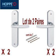 Lot 2 Paires Poignée Aluminium Alu/Argent,Prêt à Poser (Dimension:photo 2) Porte