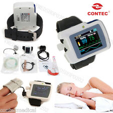 CONTEC Sleep Apena Meter Respiratory Monitor For the Old,SpO2 Nose Airflow,Alarm
