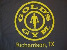 Gold's Gym Richardson, TX Body Builder Souvenir Gray Cotton T Shirt Size XL
