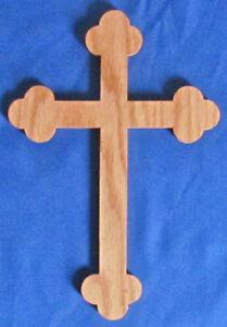 Budded Cross - Hand Cut From Oak