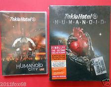 tokio hotel humanoid cd + dvd+bandiera tokio hotel flag + dvd humanoid city live