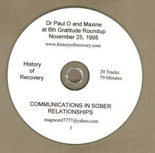 Dr Paul O and Wife Maxine 5 CDs Workshops and Talks Alcoholics Anonymous ALANON