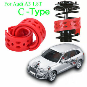 2pcs Front Shock Absorber Spring Bumper Power Cushion Buffer For Audi A3 1.8T