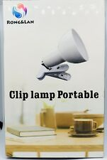 Cilp on Light360° Rotation Clip on Lamp Portable Book Reading LightClamp on D...
