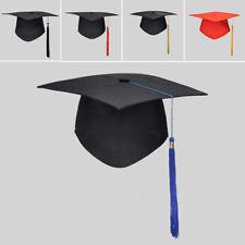 GRADUATION HAT Mortar Board Black Graduate Costume Academic Cap School Party New