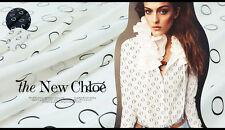 Silk Crepe de Chine Fabric Chloe Designer Dot Circle White Ivory Black 2.15y