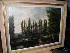 LES LAVANDIERES 1858 - Huile Sur Toile - Ecole Française -
