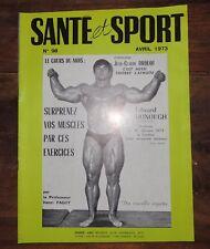 Santé et sport n°98- Bodybuilding - Musculation - Photo ARAX 1973