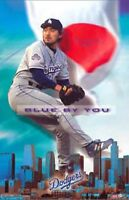New Costacos MLB Los Angeles Dodgers Kazuhisa Ishii Blue By You Poster 22.5 x 35