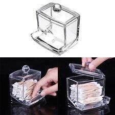 1 Pcs Marchandises Acrylique Transparent Coton-tige Boîte Rangement Ménagers Box