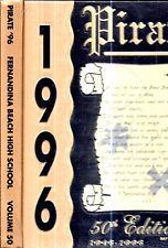 1996 FERNANDINA BEACH FLORIDA PIRATES SCHOOL YEARBOOK ILLUSTRATED FIRST EDITION