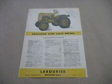 LABOURIER LD15 Tractor Tracteur Catalogue Brochure Prospekt Dépliant French