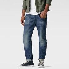 G-Star Raw Davin 3D Tapered W32 L34 RRP £116 DK Aged Blue Reill Denim Jeans