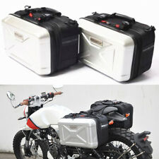 Universal 15L Motorcycle Saddle Case Luggage Tank Box Street Bike Accessories 2x