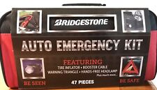 New Bridgestone Car Emergency Kit 27 Pc Travel Road Safety First Aid Carry Case