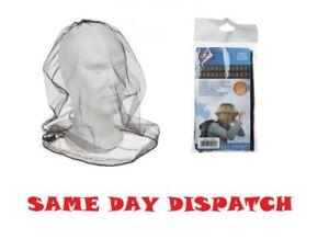 MOSQUITO MESH HEAD NET TRAVEL PROTECTOR CAMPING BUGS FLIES FACE NETTING MIDGE UK