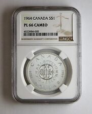 1964 S$1 Canada Silver Dollar NGC PL 66 Cameo