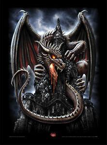 Fantasy Prints Goth Gothic Pictures Dragon Wolf Steampunk Spiral Framed Art