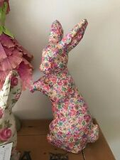 Primrose Vintage Modern Victorian Easter Bunny Rabbit Floral Splat Figurine NWT