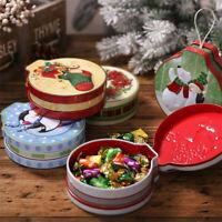 Christmas Tin Gift Box Candy &Cookie Storage Box Hanging Tree Xmas Decor