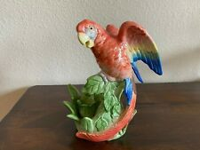 Fitz & Floyd Jungle Parrot looking up Candlestick Candle holder