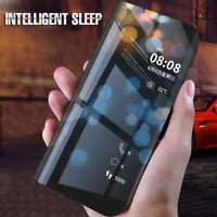For Xiaomi Mi A1 A2 9 8 SE 6 Pocophone F1 Mirror Case Flip Stand Hard PC Cover