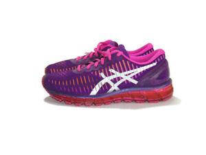 Asics Sneakers Purple Pink Orange Silver Mesh Gel Quantum 360 Lace Up Womens 8