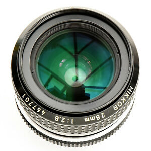 Nikon Nikkor 28mm f/2.8 AI sp'r sh'p Mn'l Focus Lens. Mint-. Tst'd. See Img's