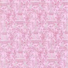 Michael Miller France French Petite Paris Eiffel Tower Rose Fabric