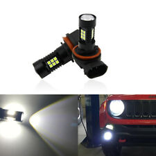 For Jeep Renegade 15-19 Led Front Fog Light Bulbs 3030-SMD Projector Fog Bulb x2