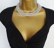 "Stunning Sparkly Diamante Choker Necklace Crystal Collar Set 12 - 15"" Long"