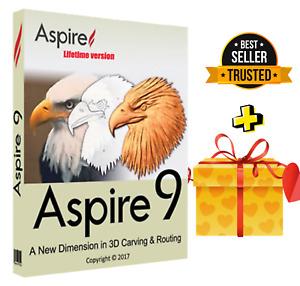 Vectric Aspire 9.5 -Design Your models for CNC routers +BONUS Clipart