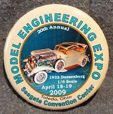 lmh Pin Button Pinback MODEL ENGINEERING EXPO 2009 1932 Duesenburg 1/6 Car OH