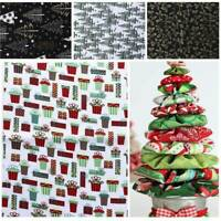 5 Mixed Cotton Fabric Christmas Sewing Bundle Patchwork Quilting Craft Making