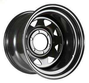 Black steel rim 16x10 ET-50 6x139,7 CB 110 Nissan Toyota Mitsubishi Opel Isuzu