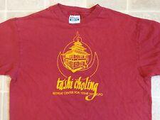 Vtg 80s TASHI CHOLING Retreat Center T-SHIRT Mens L Yeshe Nyingpo Buddhist Tibet