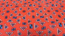 """""""""""Red Corduroy With Geometric Shapes Design""""' - 25 X 42"""