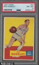1957 Topps Basketball #43 Rod Hundley PSA 8 NM-MT