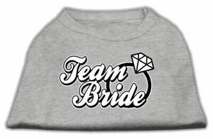 Team Bride Screen Print Dog Cat Pet Puppy Wedding Shirt