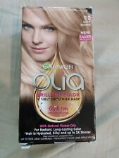 New Garnier Olia Permanent Color Kit 9.0 Light Blonde up to 100% gray coverage