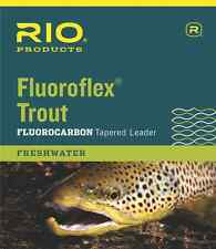 NEW RIO FLUOROFLEX 9FT 6X TROUT TAPERED LEADER flyfishing loop invisible