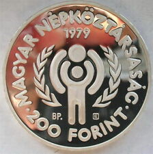 Hungary 1979 Year of The Child 200 Forint Silver Coin,Proof