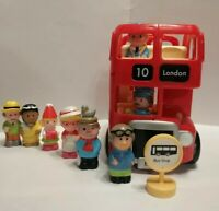 ELC Happyland London Red Double Decker Bus. Driver, Conductor & Passengers