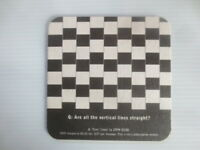 """1 only GUINNESS Australia """" GENIUS Are all....  """" Special Issue BEER COASTER"""