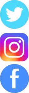 Facebook, Instagram, Twitter social media van graphic/decal 100mmx100mm